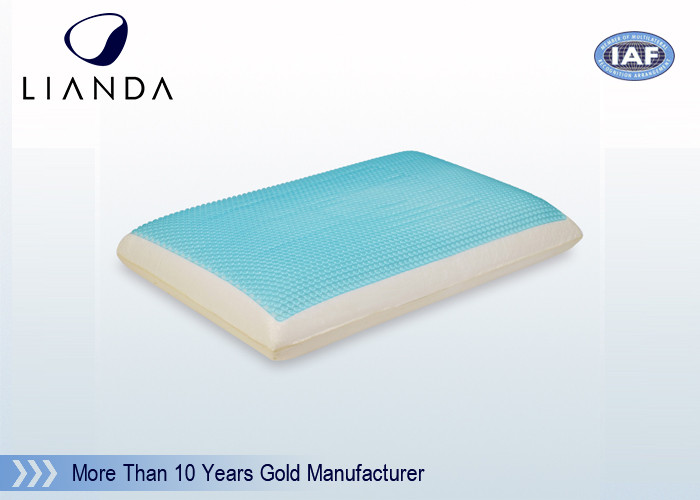 Memory Foam Cooling Gel Pillow , Home Textile Fashion Silicone Gel Pillow