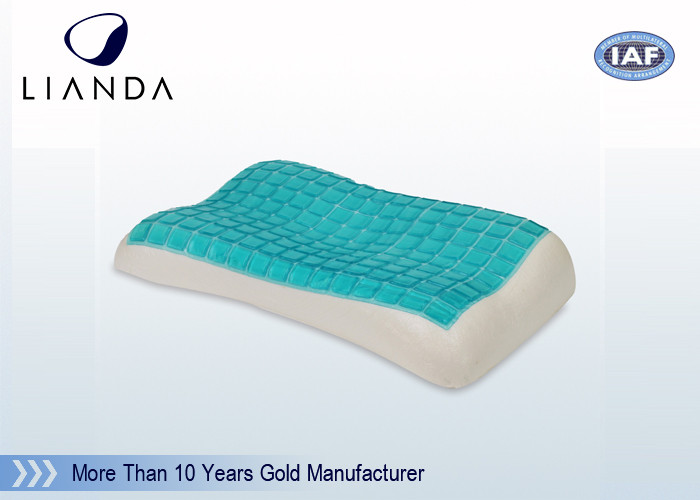 Flat Breath Contour Cooling Memory Foam Pillow Gel 80D Medium Soft 50×30×7 CM