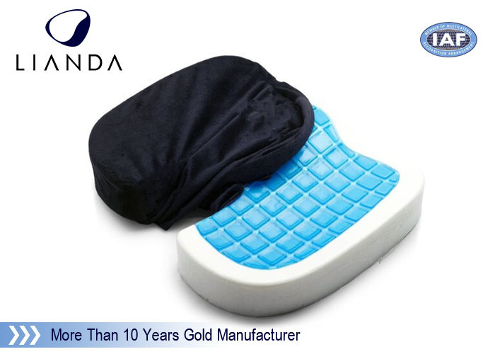 Memory Foam Cushion Gel-enhanced Comfort Seat OEM , Gel Coccyx Seat Cushion