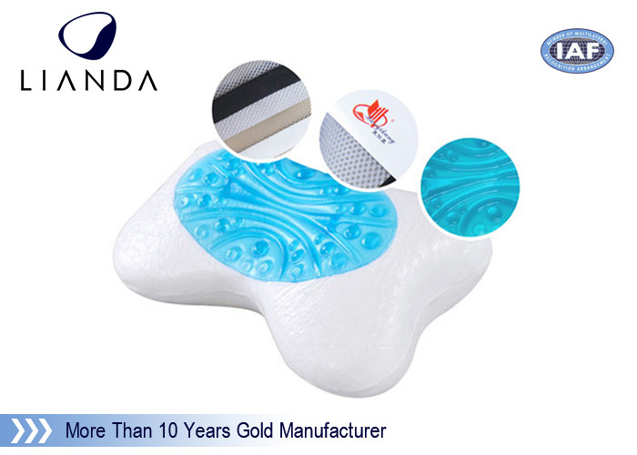 Reversible Cool Gel Memory Foam Pillow for Sleeping health care , cool gel contour pillow