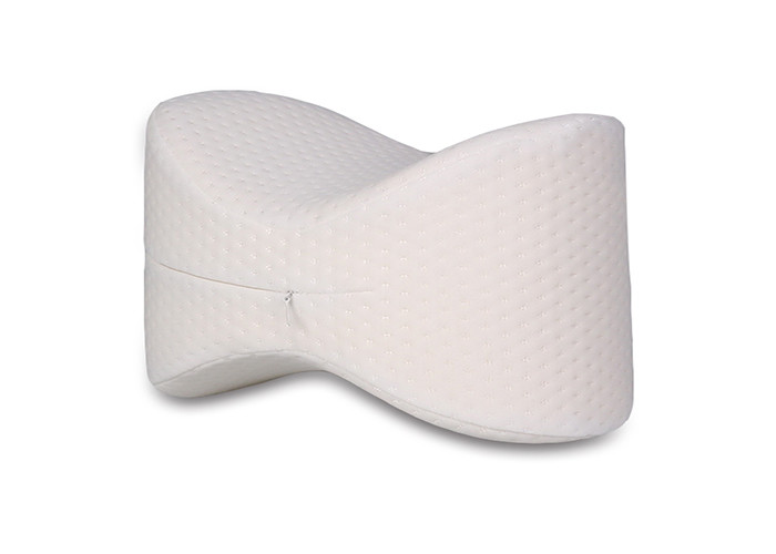 White Pain Relief Memory Foam Knee Pillow For Sciatic Nerve , Sleeping Knee Pads