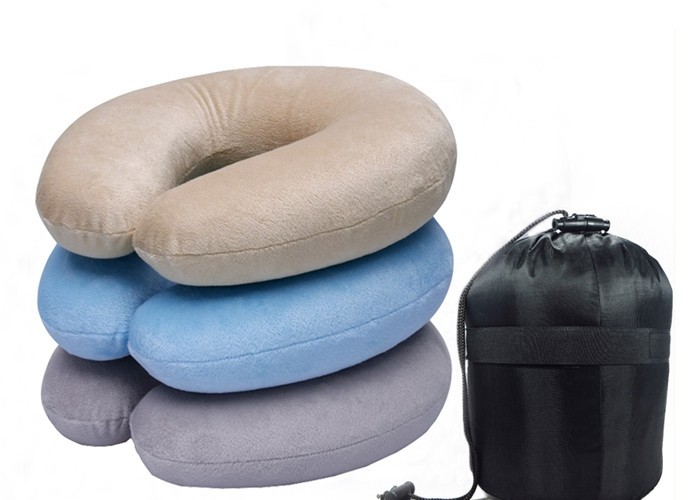 Ultra Comfort Massage Rest Travel Neck Pillow  Promotes Spinal Alignment